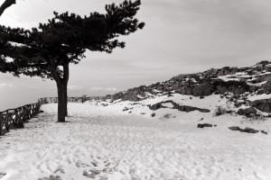 la neve sul Faito