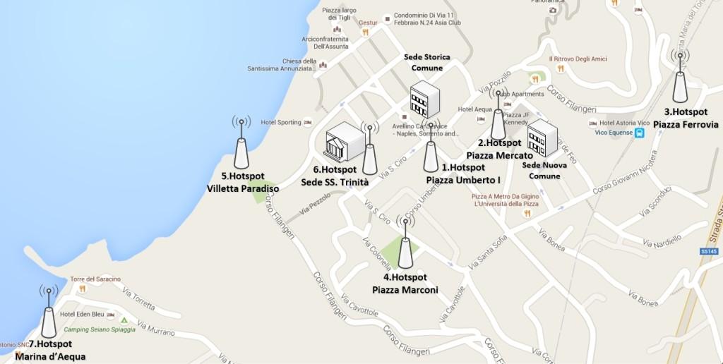 rete wifi della città di Vico Equense