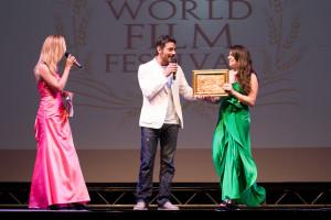 la premiazione dell'attore Giuseppe Zeno