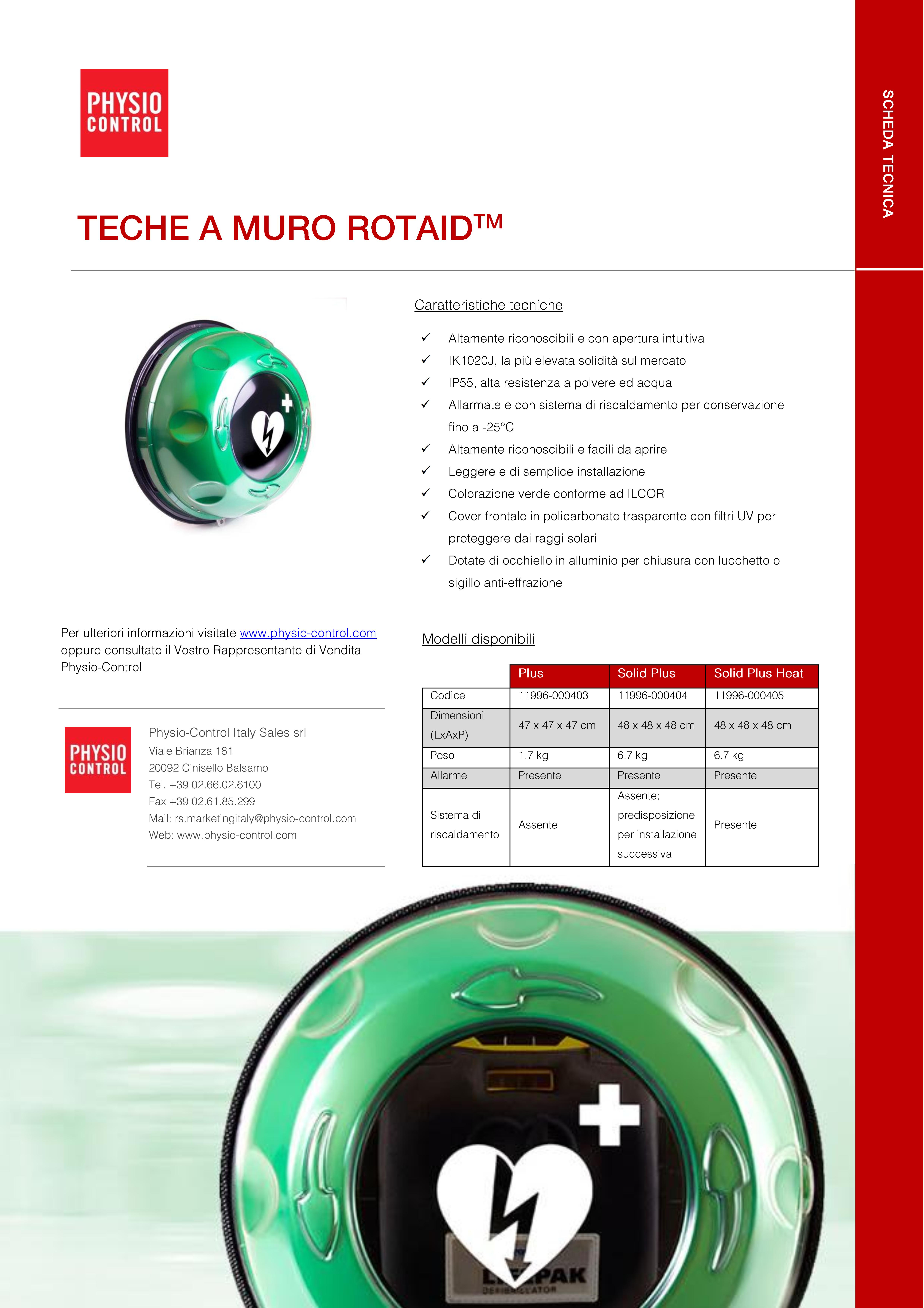 Scheda tecnica teche ROTAID